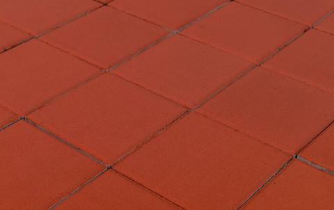 Тротуарная плитка BRAER Лувр, красный, h= 60, 100x100