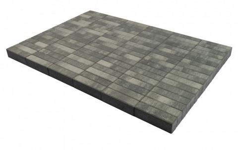 "Тротуарная плитка Паркет, Color Mix ""Туман"", h=60 мм"