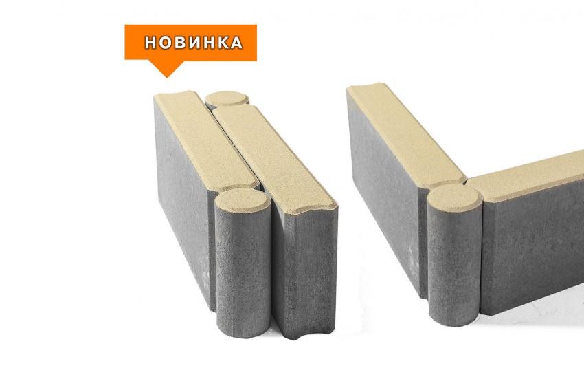 Бордюр тротуарный шарнирный BRAER БРШ 500*200*78 желтый