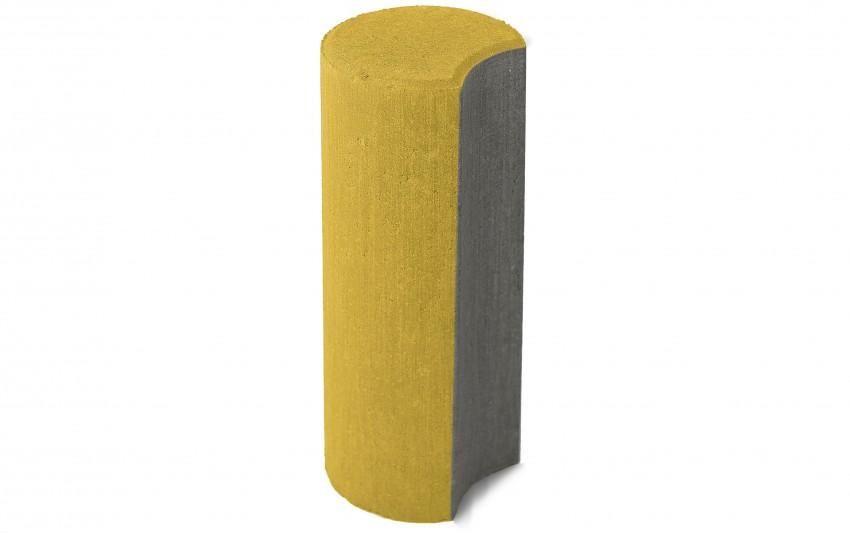 BRAER Бетонный столбик ограждения Палисад желтый