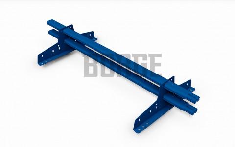 снегозадержатель BORGE для металлочерепицы цвет RAL5005, 1м