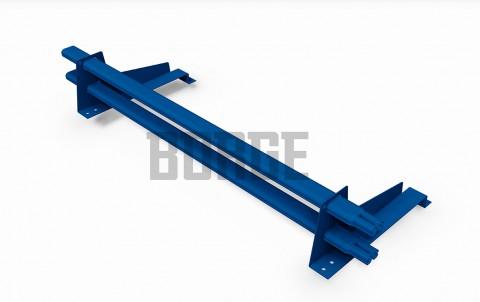 снегозадержатель BORGE для металлочерепицы с высокой ступенькой цвет RAL5005, 1m