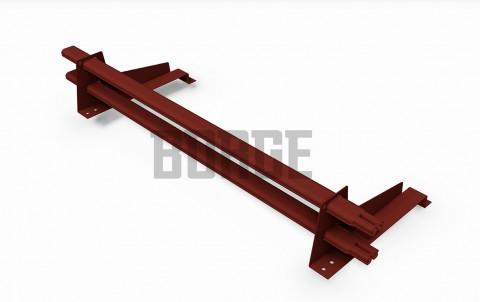 снегозадержатель BORGE для металлочерепицы с высокой ступенькой цвет RR11, 1m