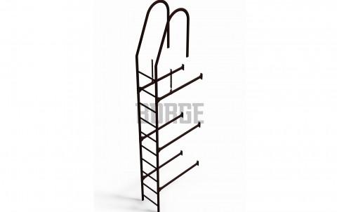 Комплект лестница фасадная BORGE верхняя секция 3м, цвет RAL 8017