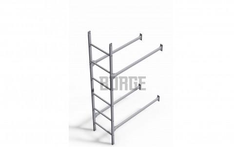 Комплект лестница фасадная BORGE нижняя секция, 1,8м цвет Zn