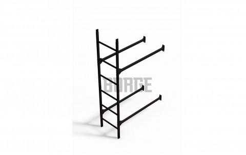 Комплект лестница фасадная BORGE нижняя секция 1,8м, цвет RR32