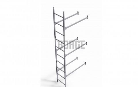 Комплект лестница фасадная BORGE нижняя секция, 3м цвет Zn