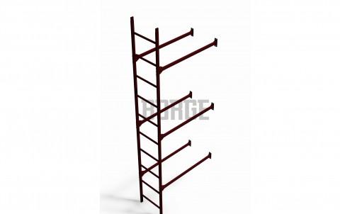 Комплект лестница фасадная BORGE нижняя секция 3м, цвет RAL 3005
