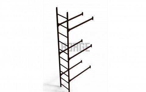 Комплект лестница фасадная BORGE нижняя секция 3м, цвет RAL 8017