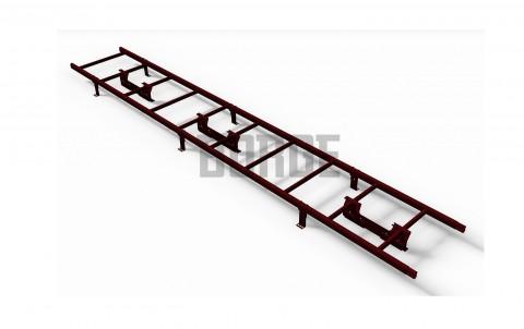 Комплект лестница кровельная BORGE 3м, для фальцевой черепицы, цвет RAL3005