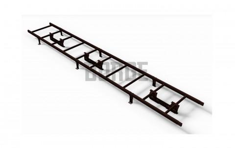 Комплект лестница кровельная BORGE 3м, для фальцевой черепицы, цвет RAL8017