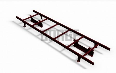 Комплект лестница кровельная BORGE 1,8м, для фальцевой черепицы, цвет RAL3005