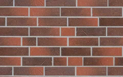 Клинкерная плитка для фасада ABC klinkergruppe Rotbunt struktur besandet, 240x52x8