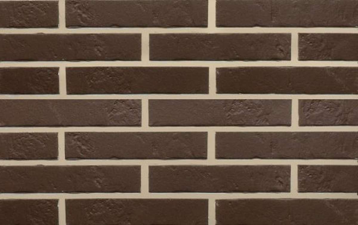 Клинкерная плитка для фасада ABC klinkergruppe Braun Schieferstruktur, 240x52x7