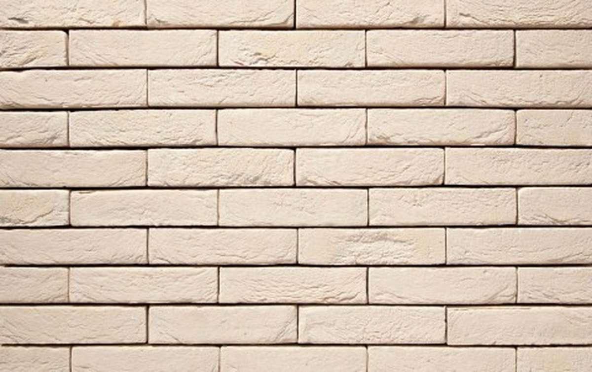 Фасадная плитка ручной формовки vandersanden  38. Créme, WF рядовая