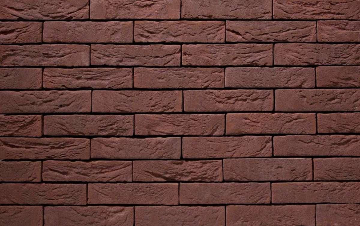 Фасадная плитка ручной формовки vandersanden  19. Sepia, WF рядовая