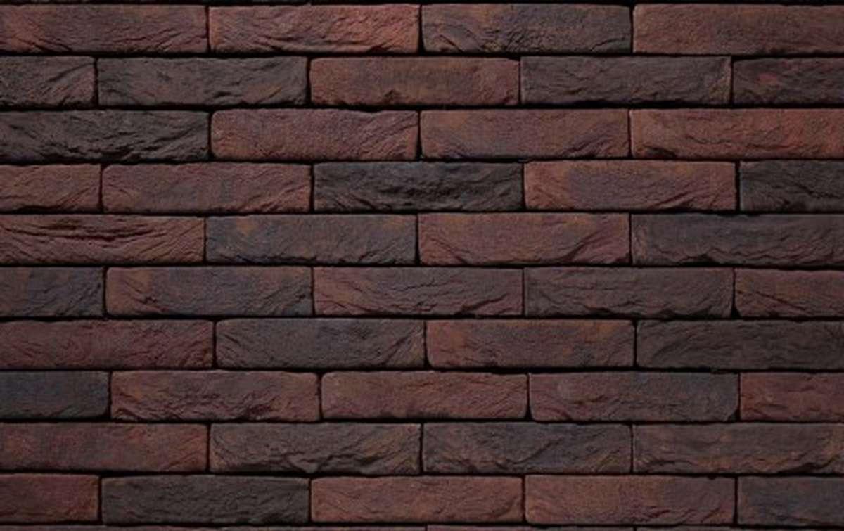 Фасадная плитка ручной формовки vandersanden  76. Carbon, WF рядовая