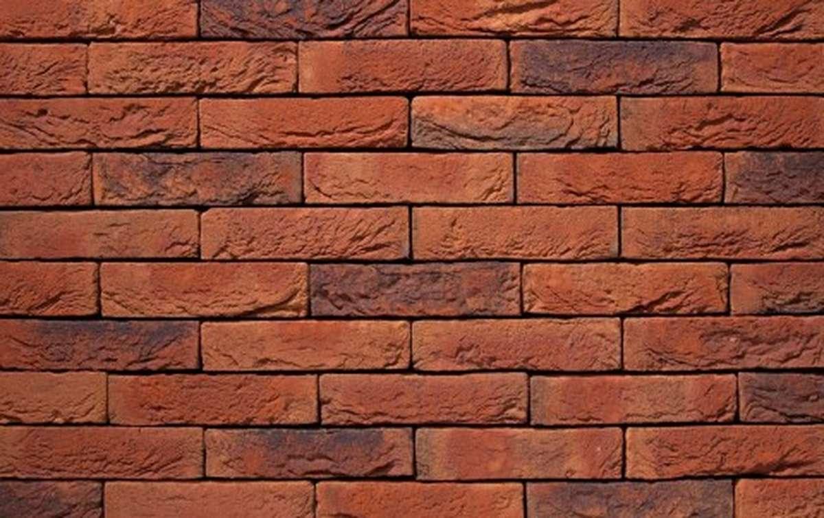 Фасадная плитка ручной формовки vandersanden  18. Viola Light, WF рядовая