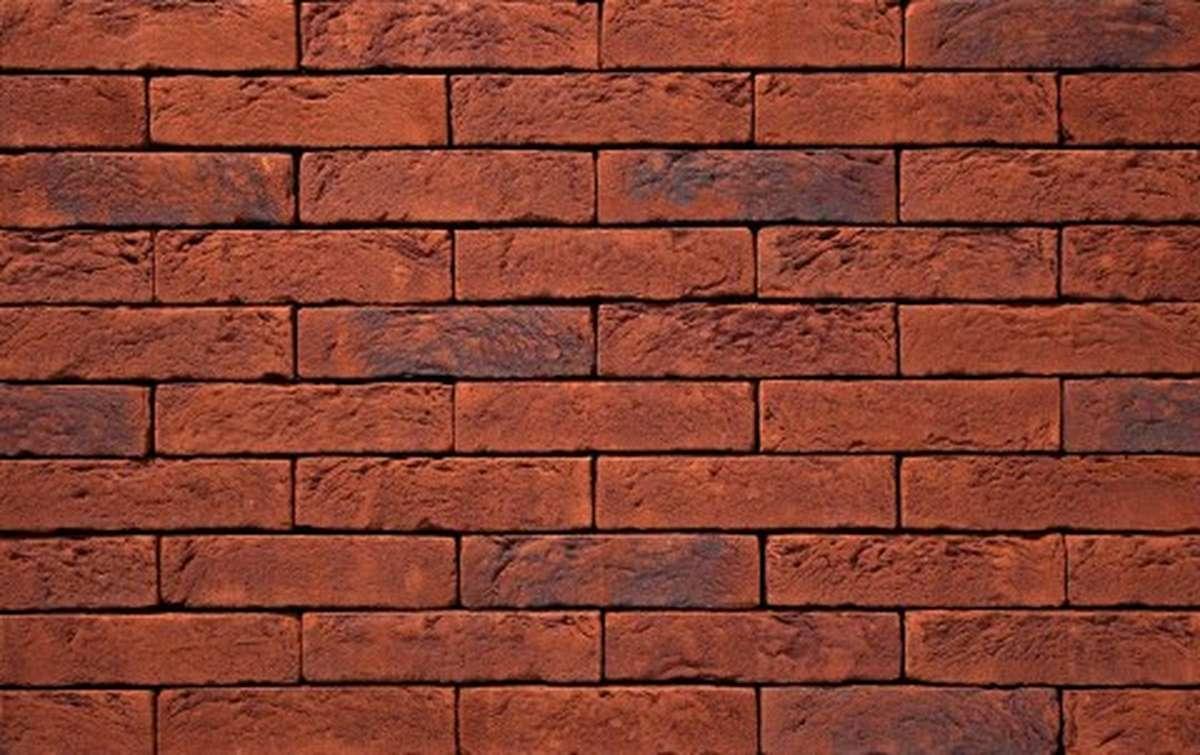 Фасадная плитка ручной формовки vandersanden  99. Marron, WF рядовая