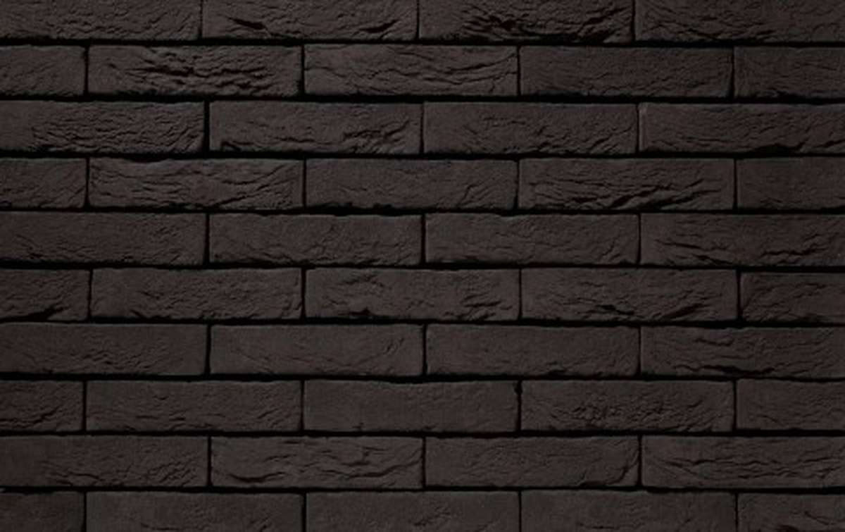 Фасадная плитка ручной формовки vandersanden  1. Zwart Mangaan, WF угловая