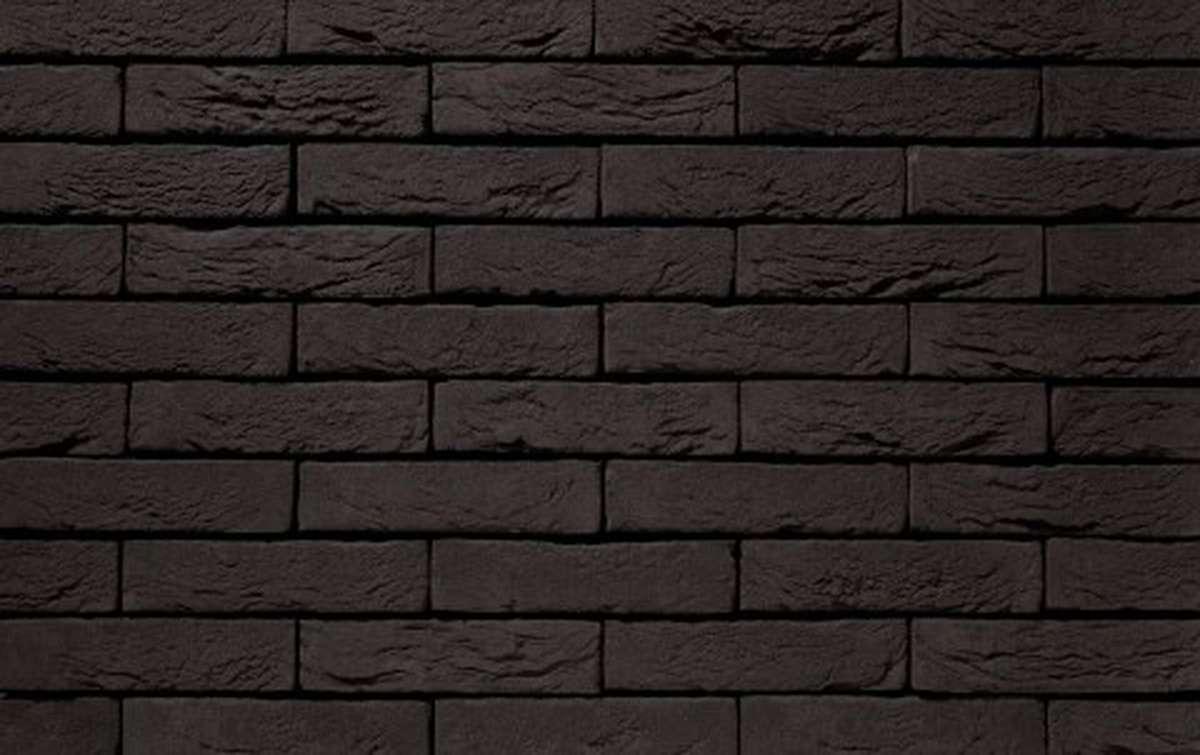 Фасадная плитка ручной формовки vandersanden  1. Zwart Mangaan, М65 рядовая