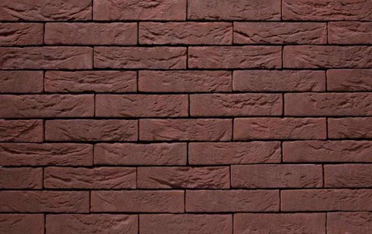Фасадная плитка ручной формовки vandersanden  19. Sepia, М65 рядовая