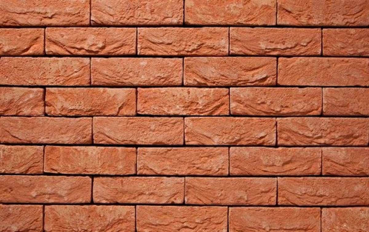 Фасадная плитка ручной формовки vandersanden  30. Orange, DF рядовая