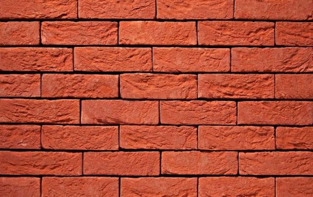 Фасадная плитка ручной формовки vandersanden  11. Terra Rood, DF рядовая
