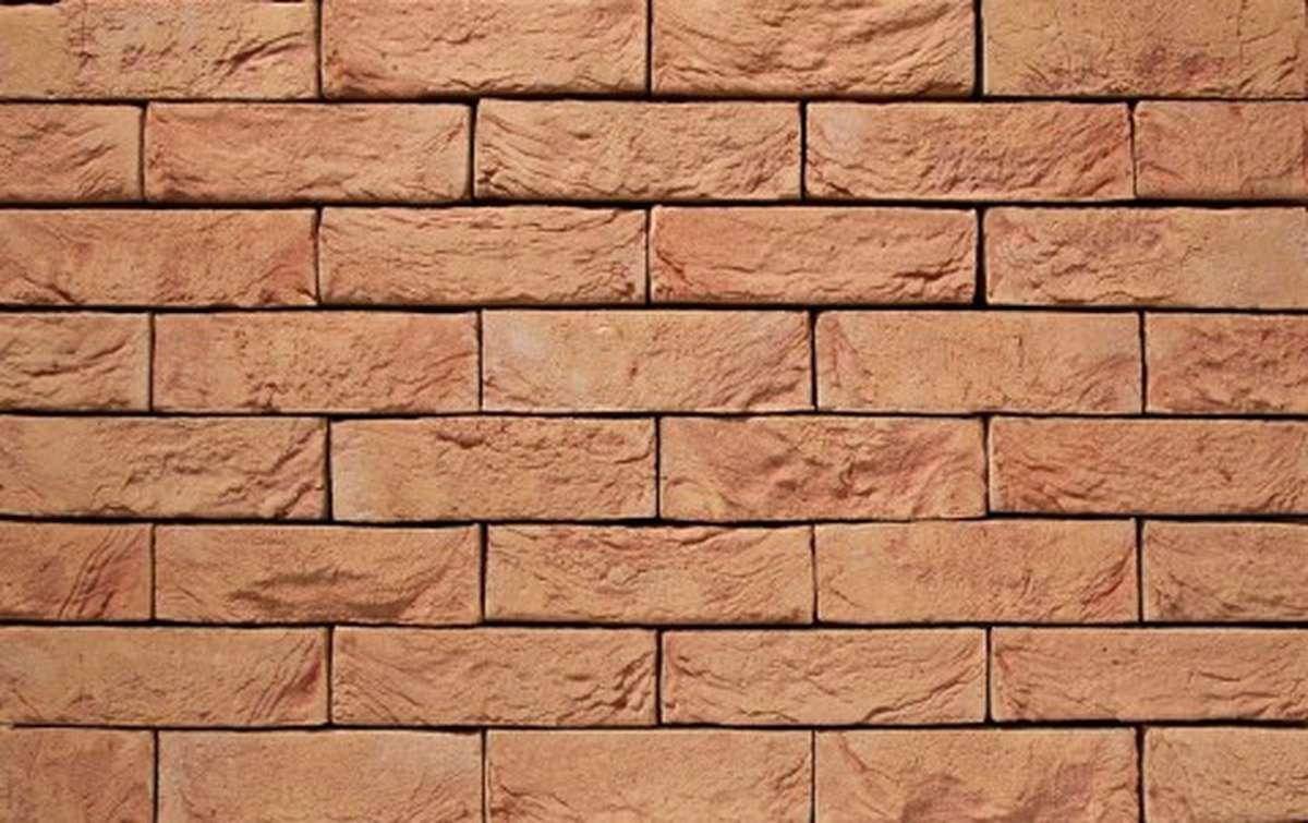 Фасадная плитка ручной формовки vandersanden  6. Rosé, DF рядовая