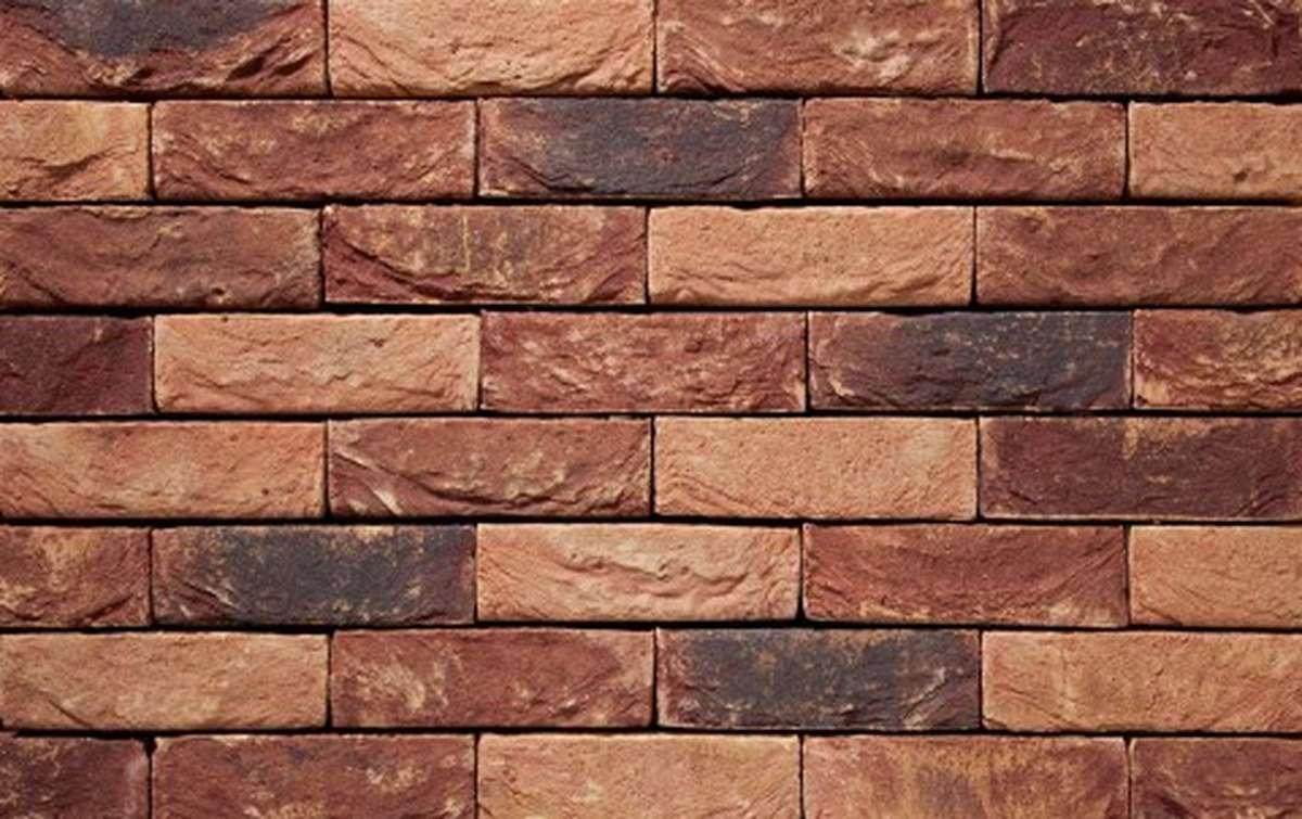 Фасадная плитка ручной формовки vandersanden  26. Alpenroos, DF рядовая
