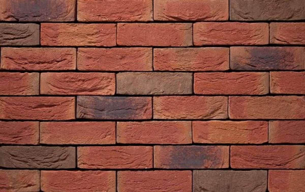 Фасадная плитка ручной формовки vandersanden  27. Avondrood, DF рядовая