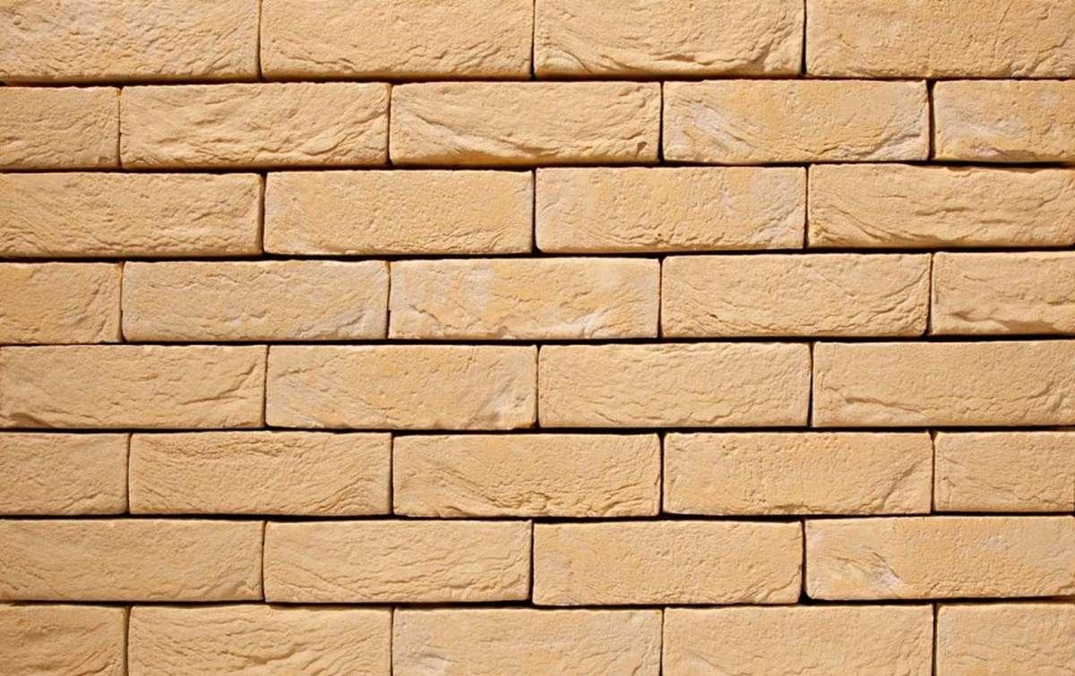 Фасадная плитка ручной формовки vandersanden  7. Geel Zilverzand, М50 рядовая