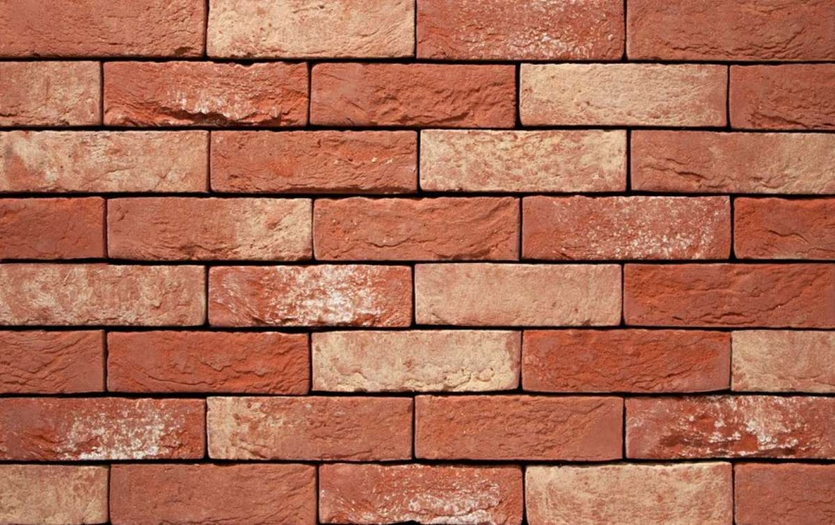 Фасадная плитка ручной формовки vandersanden  61. Affigem, М50 рядовая