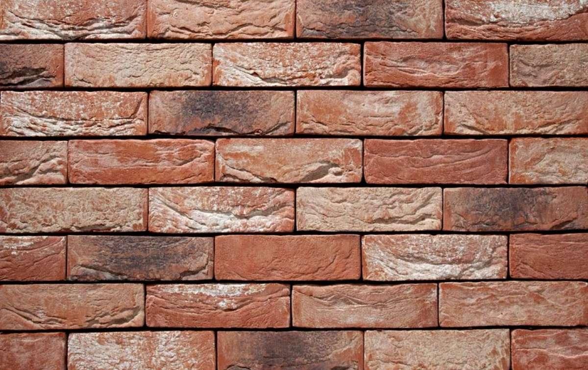 Фасадная плитка ручной формовки vandersanden  24. Barok, М50 рядовая