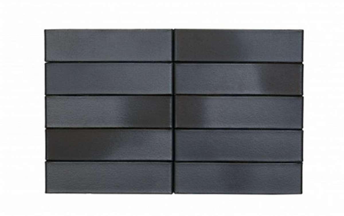 Облицовочный кирпич RECKE BRICKEREI 1-51-00-0-00, черный, гладкий, 1 NF