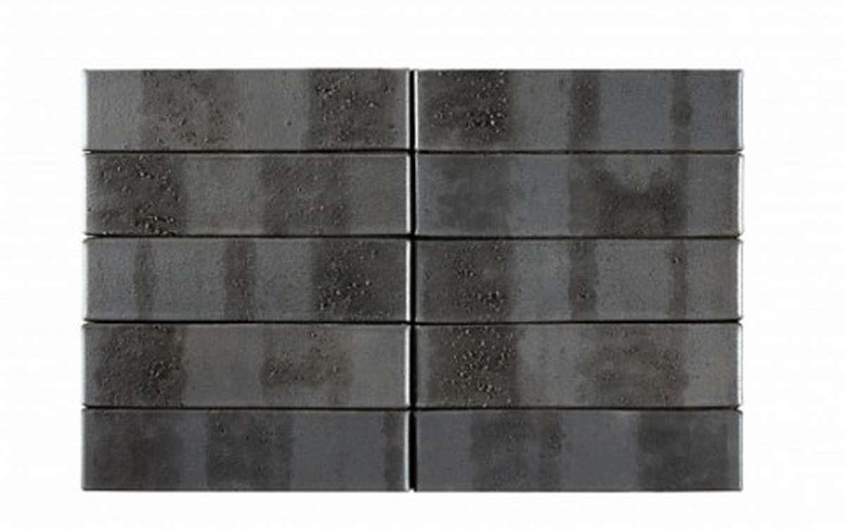 Облицовочный кирпич RECKE BRICKEREI Krator 5-32-00-0-12, черный, рифленый, 1 NF