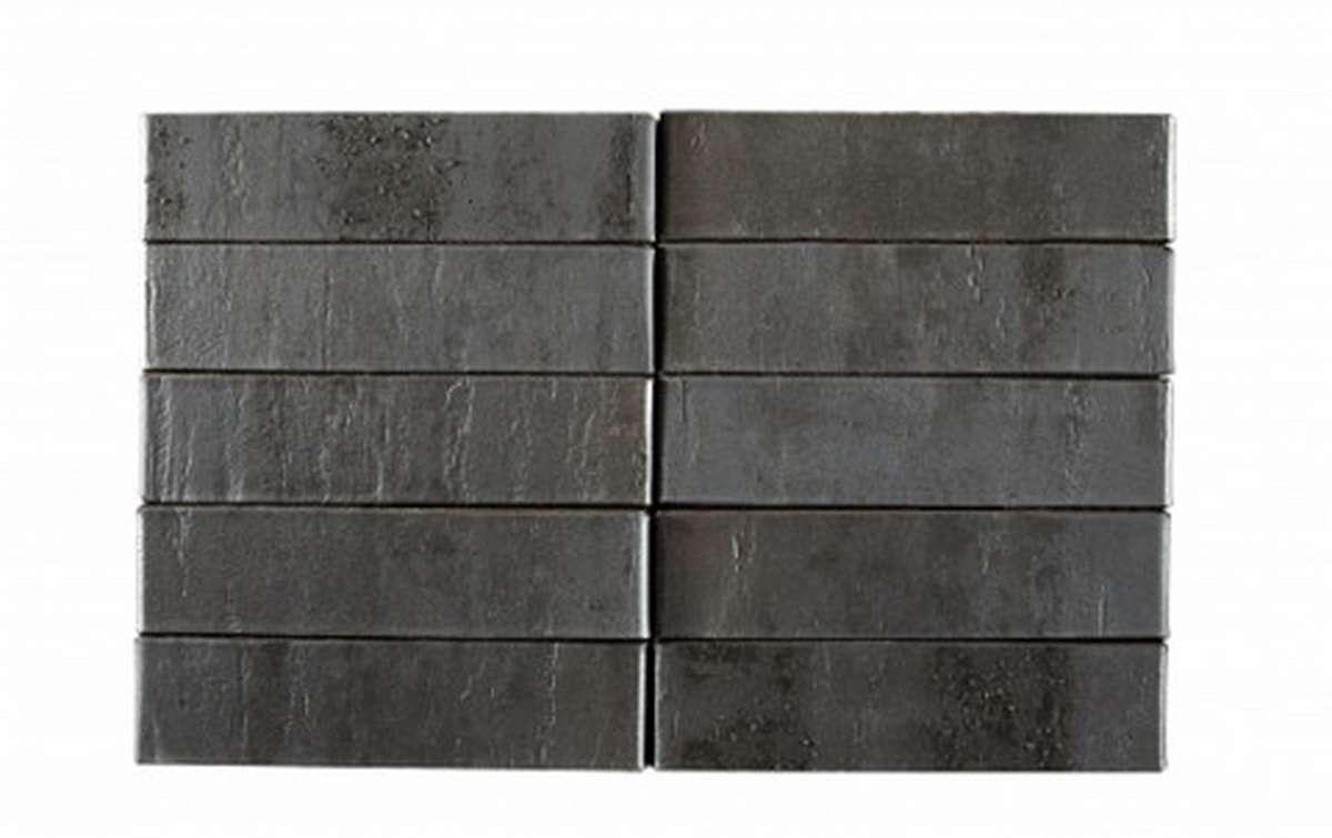 Облицовочный кирпич RECKE BRICKEREI Krator 5-32-00-2-12, черный, рифленый, 1 NF