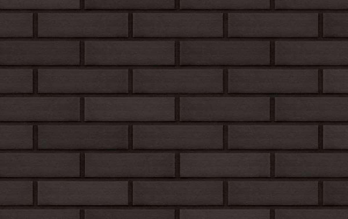 Фасадная клинкерная плитка King Klinker DREAM HOUSE Volcanic black (18), 240x71x10