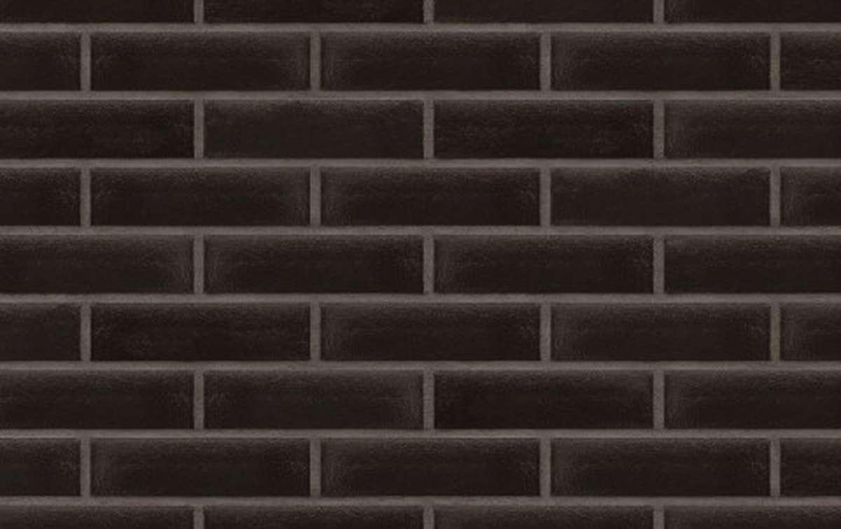 Фасадная клинкерная плитка King Klinker FREE ART. Onyx black (17), 250x65x10