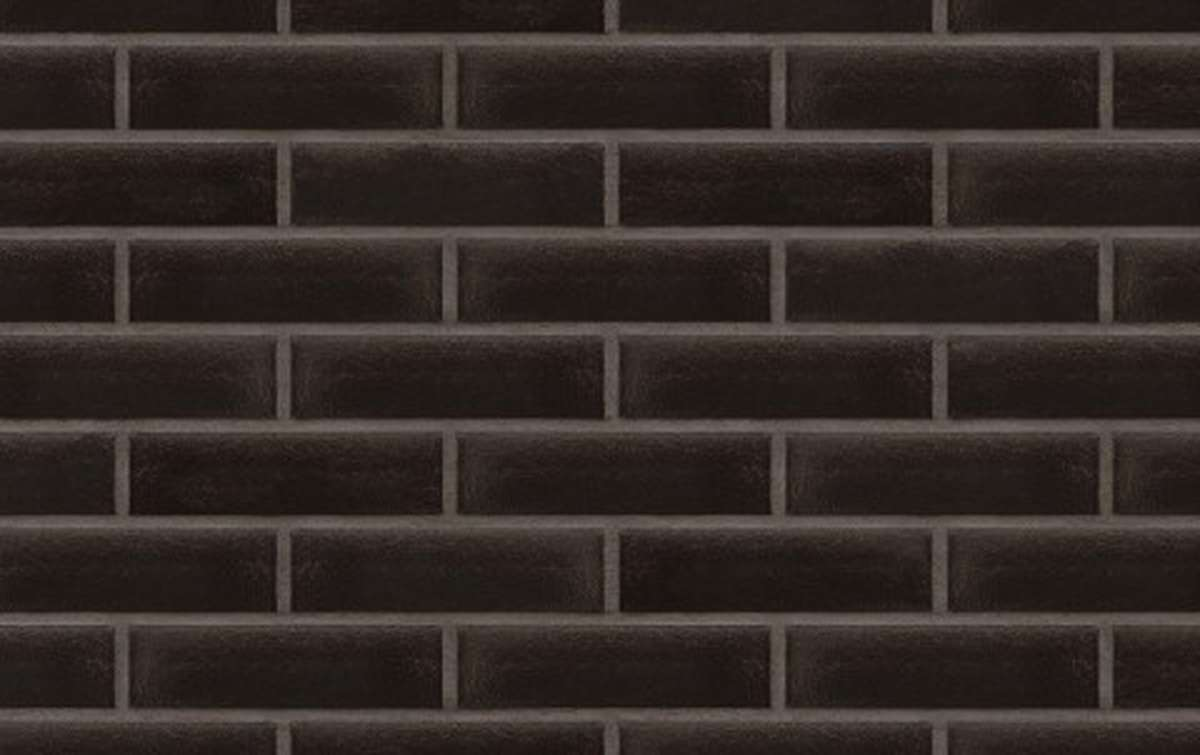 Фасадная клинкерная плитка King Klinker FREE ART. Onyx black (17), 240x71x10