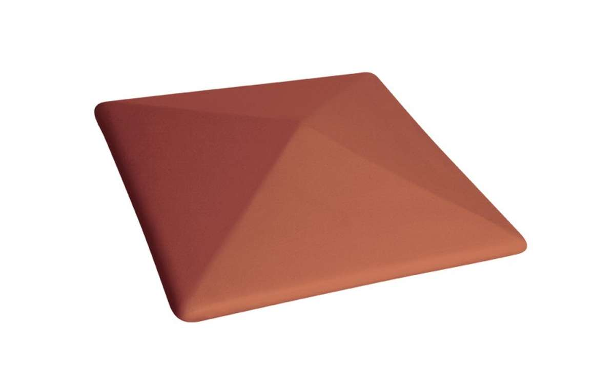 клинкерный колпак King Klinker 445x445x90, Рубиновый красный (01)