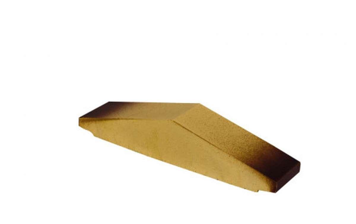 Профильный кирпич ZG, 295x65x60, желтый тушевой