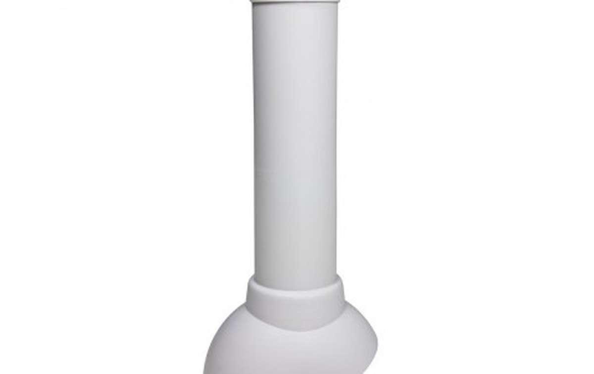 Вентиляционный выход VILPE неизолированный (h=500, d=110), светло-серый