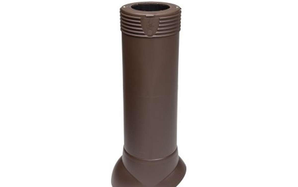 Вентиляционный выход VILPE изолированный (h=500, d=110/160), коричневый