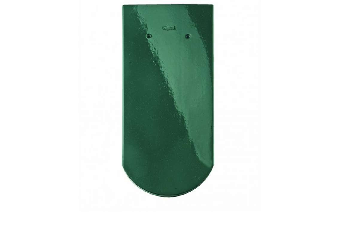 Керамическая черепица BRAAS Опал, зеленая ель
