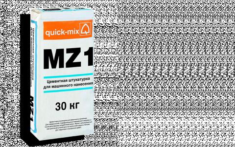 Штукатурка QUICK-MIX MZ 1 h, цвет серый
