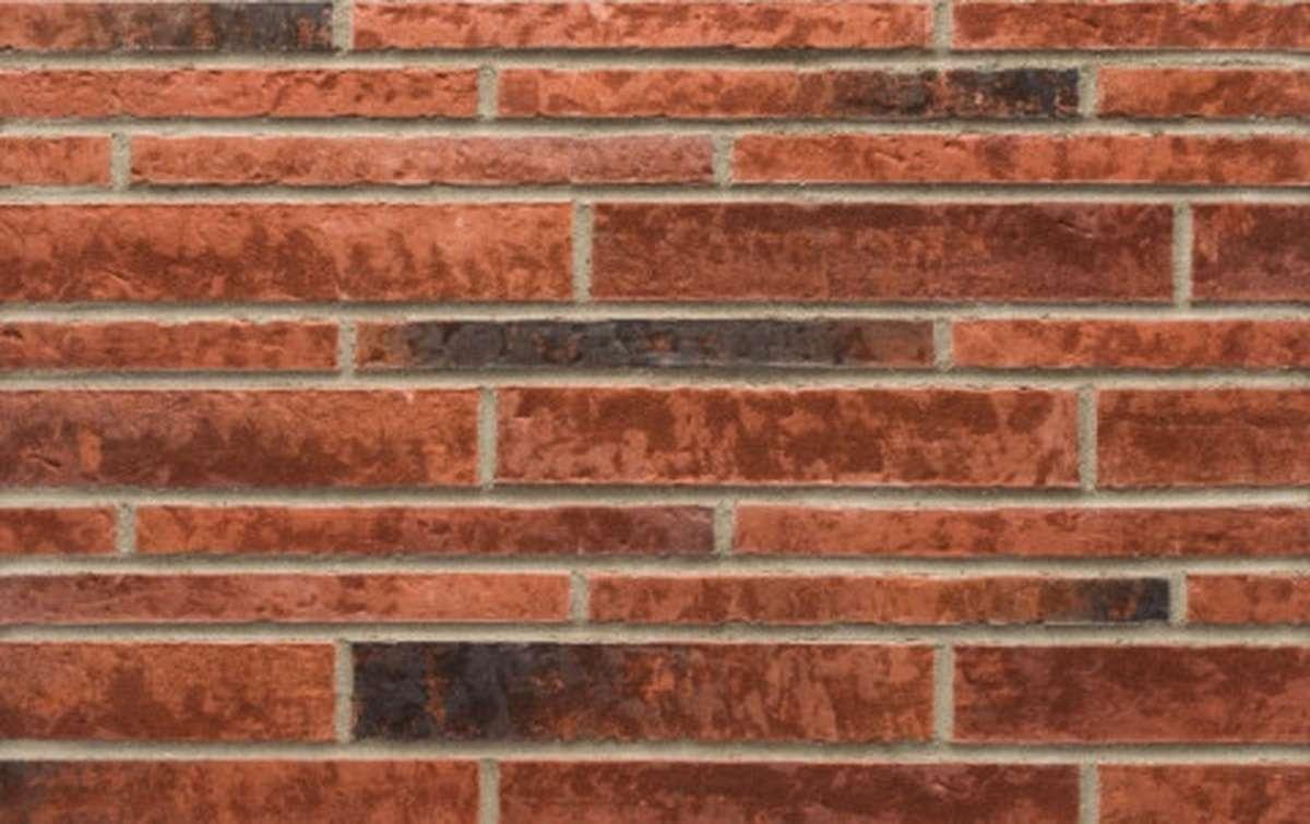 Фасадная плитка ригель-формат STROEHER 7440 ZEITLOS 353 eisenrost, размер 400x71x14