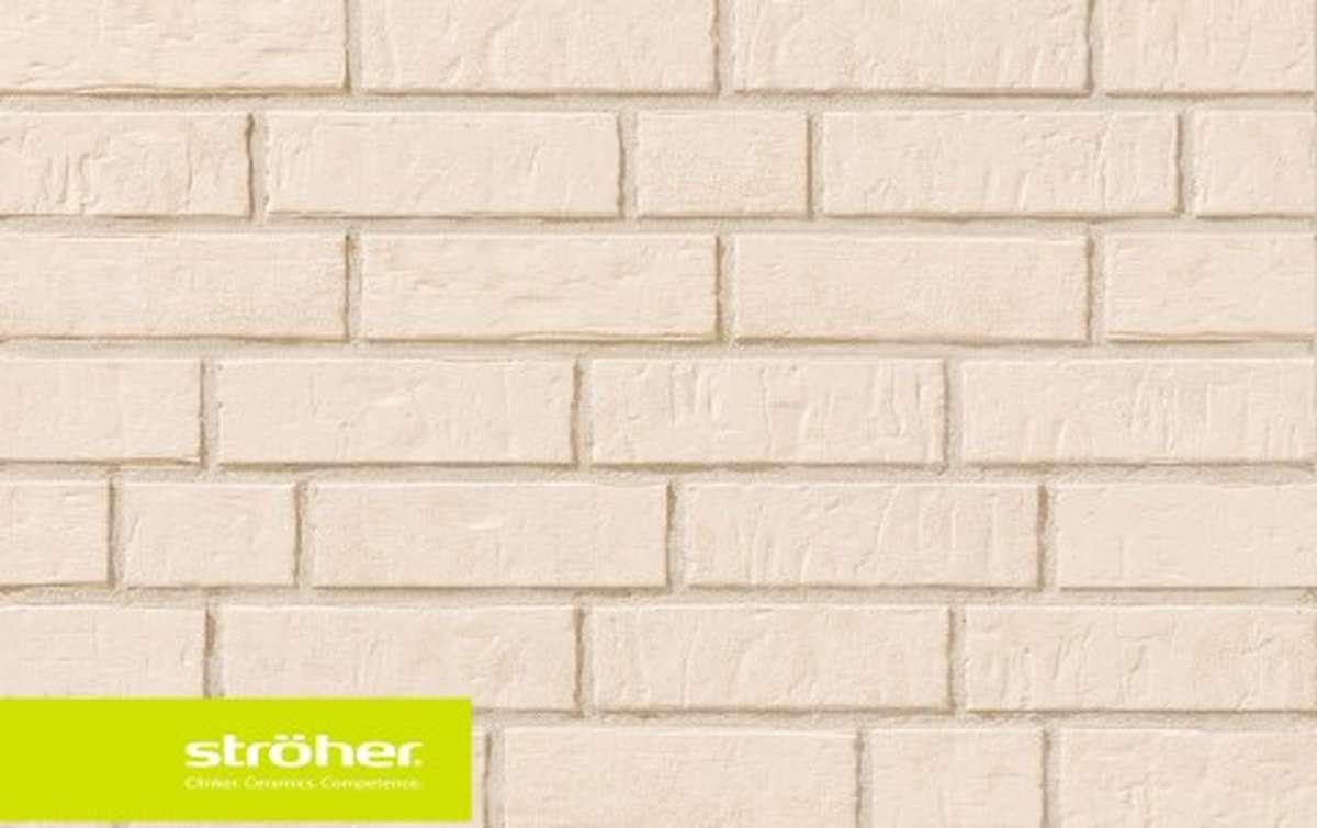 фасадная клинкерная плитка STROEHER kalkbrand, размер  240x71x14