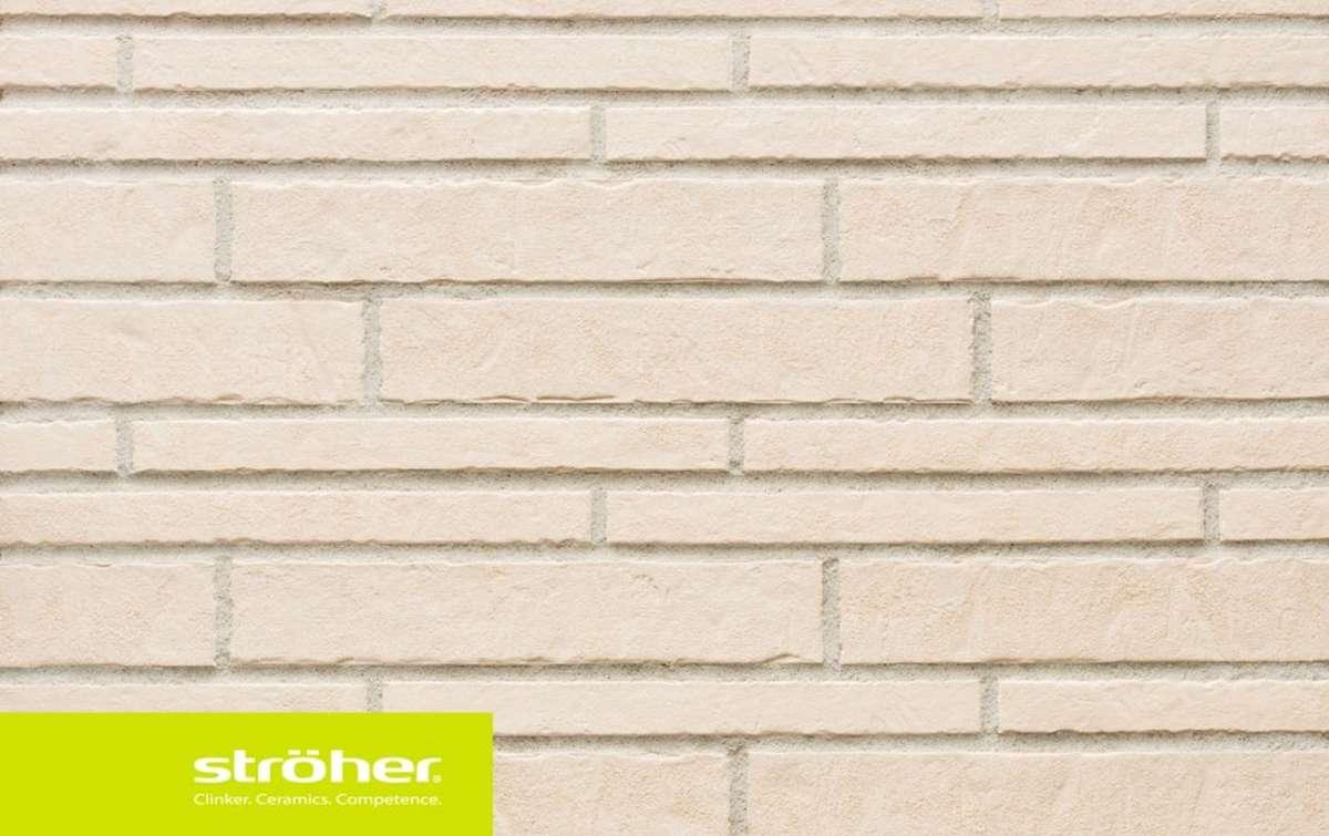 фасадная клинкерная плитка STROEHER kalkbrand, размер  400x71x14