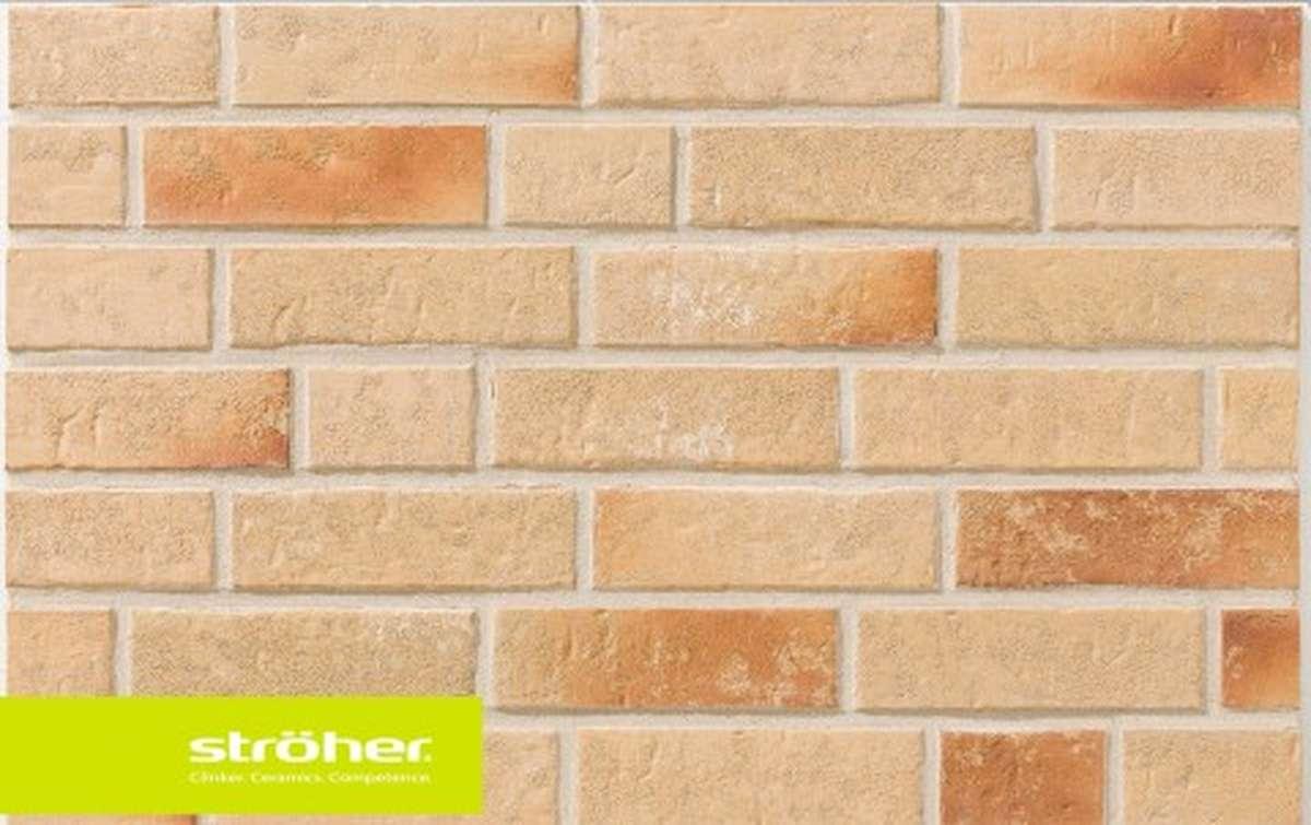 фасадная клинкерная плитка STROEHER kupferschmelz, размер  240x71x14